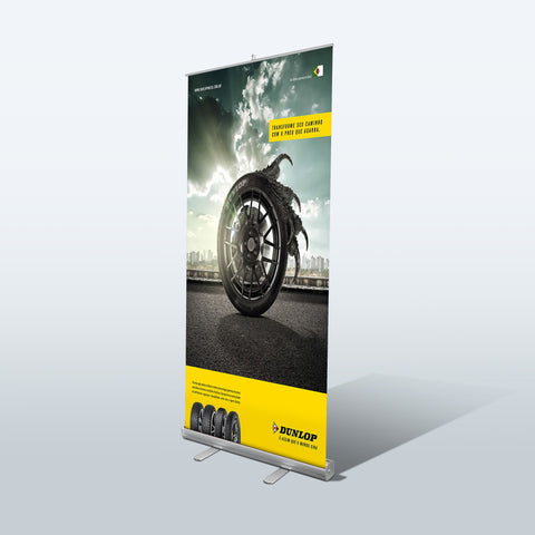 Retractable Banner Stands | Budget Roll Up & Pull Up Banner Stand - Deluxe Canopy