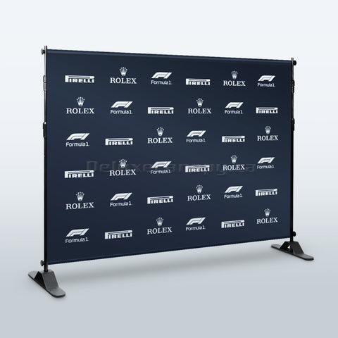 Step and Repeat Banner Stand | Adjustable Trade Show Backdrop Stands