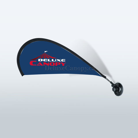 Custom Suction Cup Flag | Printed Advertising Flags - Deluxe Canopy