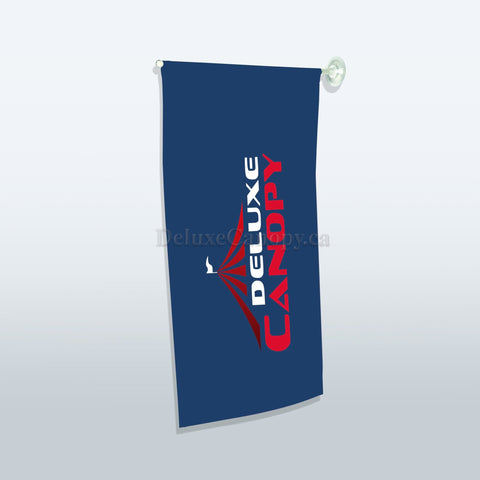 Custom Window Suction Flags | Printed Promo Flags - Deluxe Canopy