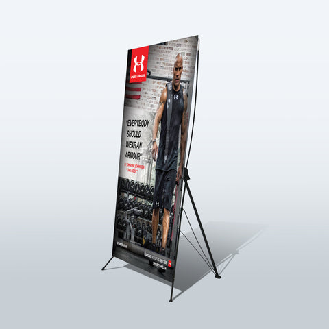 Retractable Banner Stands | X Banner Stand | Roll Up Pull Up Stand - Deluxe Canopy