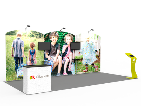 10x20 Exhibit Display Booth