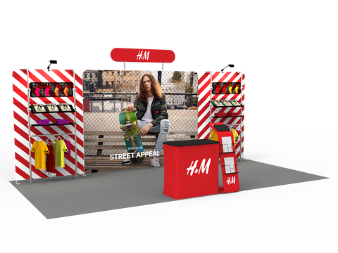 10x20FT Exhibition Booth Display DC-09