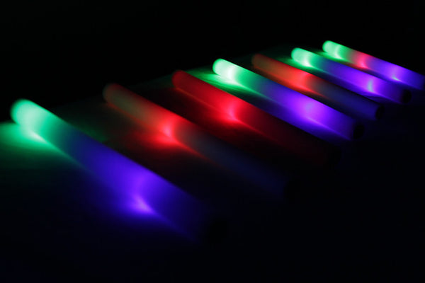 3 Mode Multicolor LED Foam Stick - Promotional Party Sticks - 3
