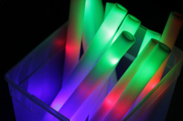 100 Pack 3 Mode LED Foam Stick - Promotional Party Sticks - 1