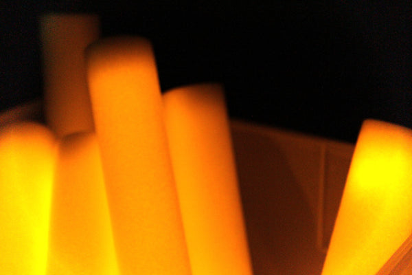 Orange LED Foam Stick - Promotional Party Sticks  - 2