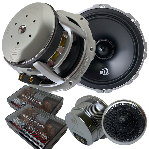 "ALUMA 6 - 6.5"" 300 Watts RMS 2 Ohm Component Kit Speakers"