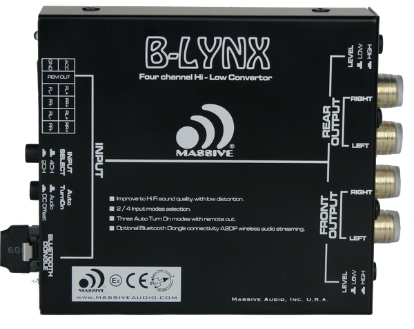 B-LYNX - 2/4 Channel Hi-Low Converter Bluetooth Auto Turn On