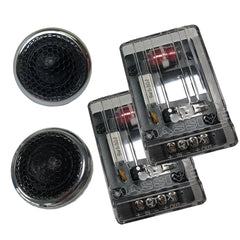 CT1X - 100 Watts RMS Multi Mounting 25mm Silk Dome Chrome Tweeters