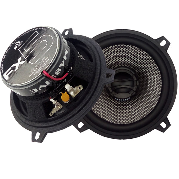 "FX5 - 5.25"" 2-Way 60 Watts RMS Coaxial Speakers"