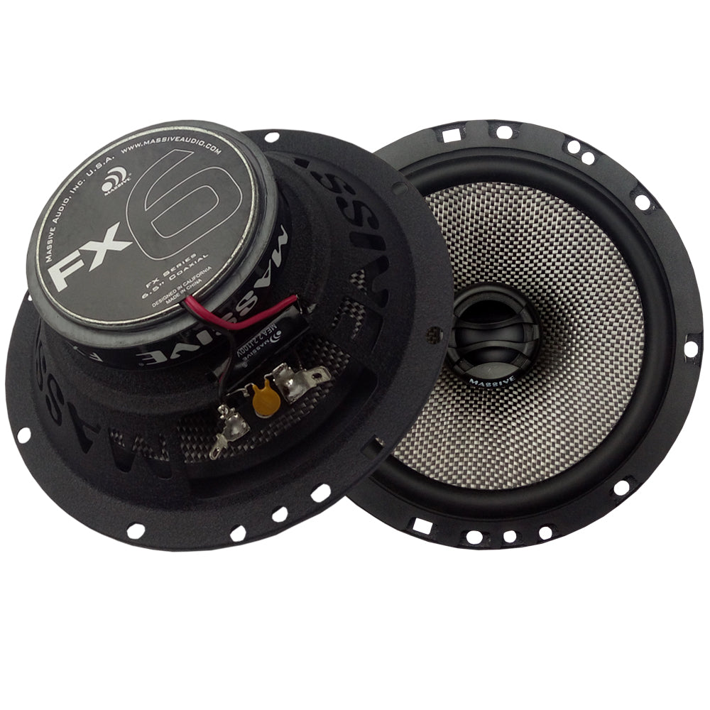 "FX6 - 6.5"" 2-Way 75 Watts RMS Coaxial Speakers"