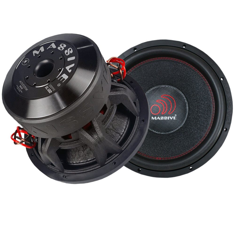 Hippoxl122 Dual 2 Ohm Subwoofer Massive Audio Enclosure Wiring Kit With 14 Gauge Speaker Next