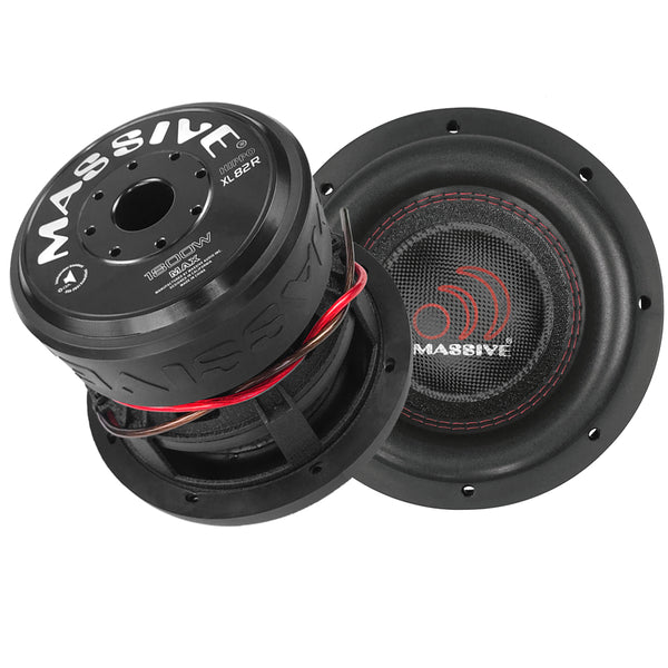 "HIPPOXL82R - 8"" 900 Watts RMS Dual 2 Ohm Subwoofer"