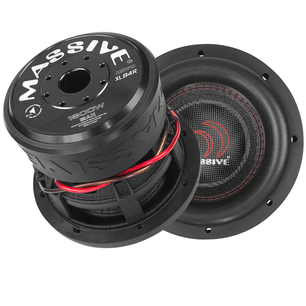 "HIPPOXL84R - 8"" 900 Watts RMS Dual 4 Ohm Subwoofer"