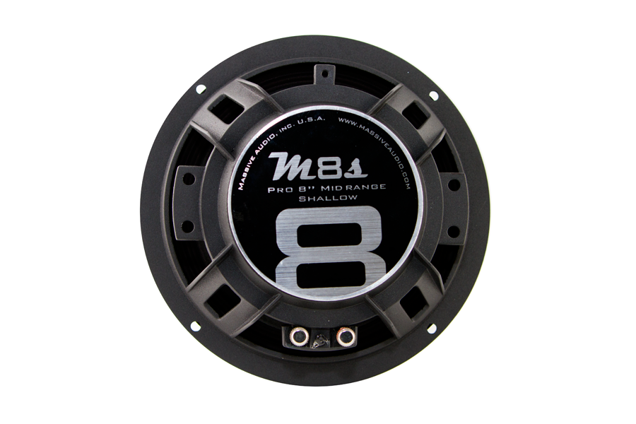 "M8S - 8"" 140 Watt 4 Ohm Mid-Range Shallow Mount Speaker"