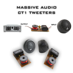 CT 1 - 60 Watts RMS Multi Mounting 25mm Silk Dome Tweeters