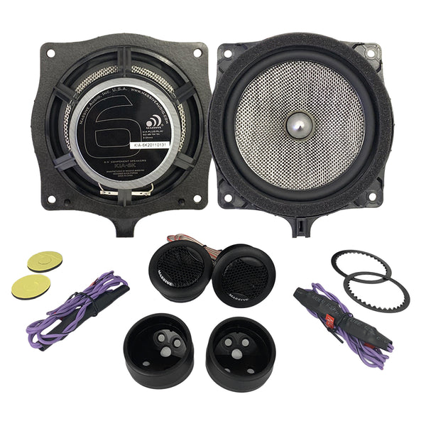 "KIA6K - 6.5"" KIA OEM Drop-In, 80 Watts RMS Component Kit Speakers"