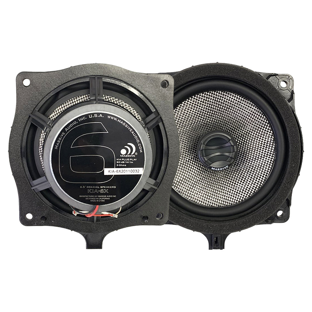 "KIA6X - 6.5"" KIA OEM Drop-In, 80 Watts RMS Coaxial Kit Speakers"