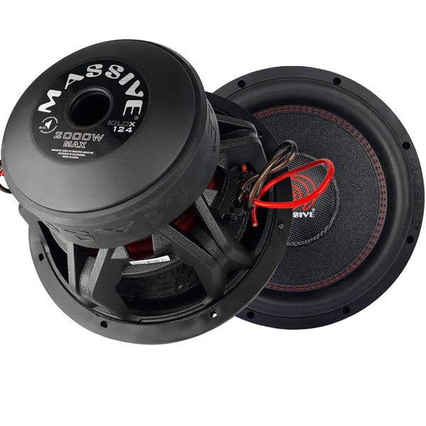 "KILOX124 - 12"" 1000 Watts RMS Dual 4 Ohm 3"" V.C. Subwoofer"