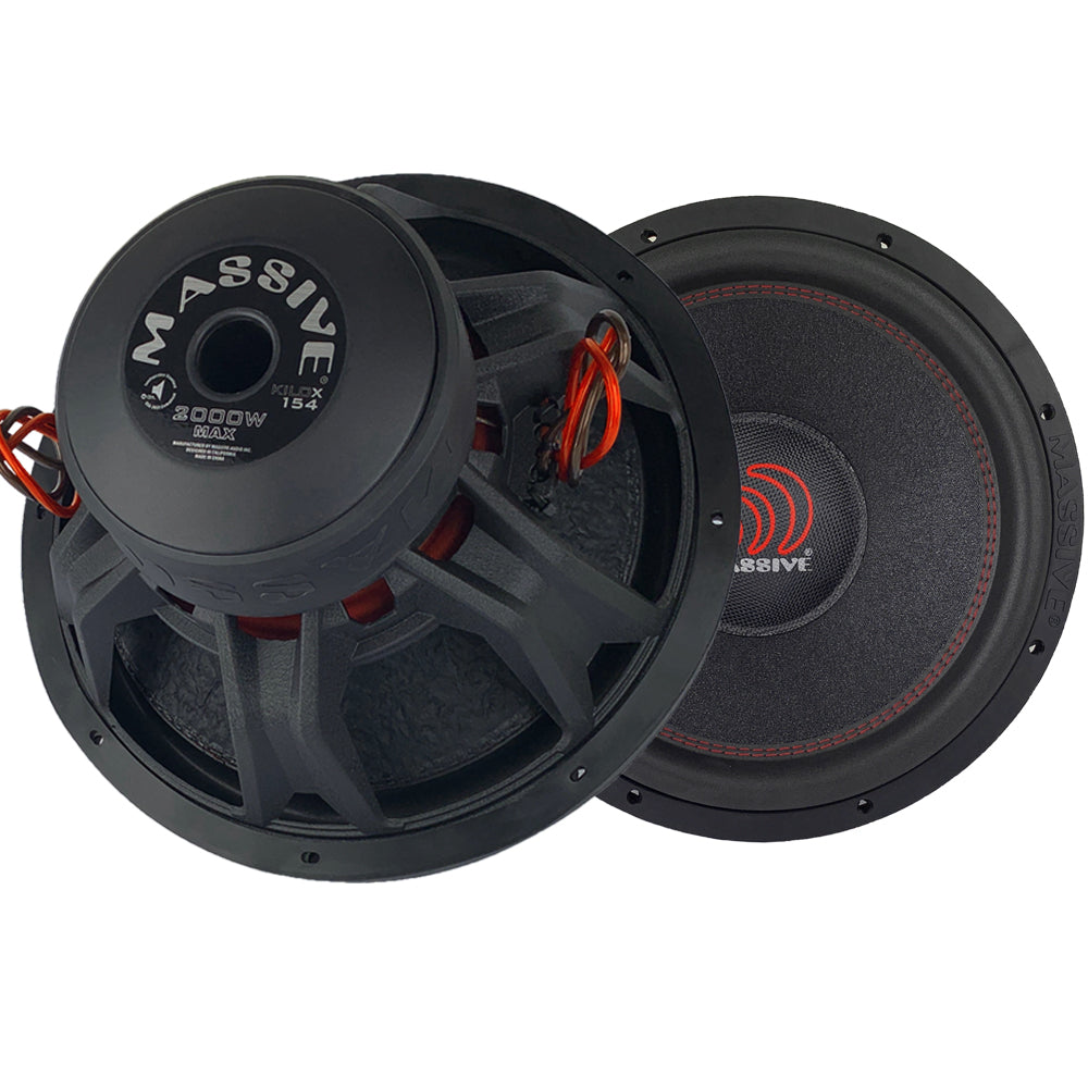 "KILOX154 - 15"" 1000 Watts RMS Dual 4 Ohm 3"" V.C. Subwoofer"