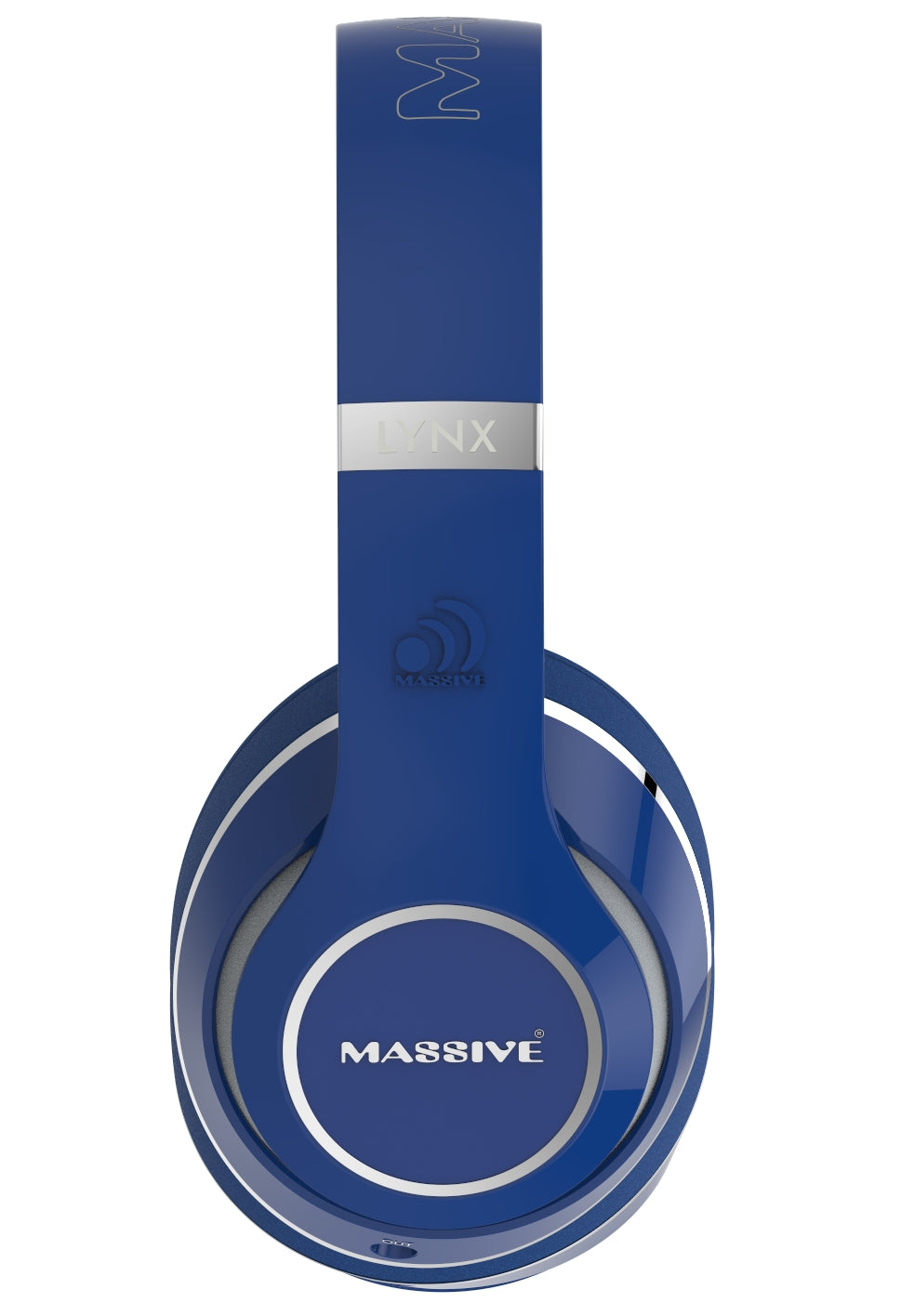 LYNX Blue Wired Foldable High Quality Headphones