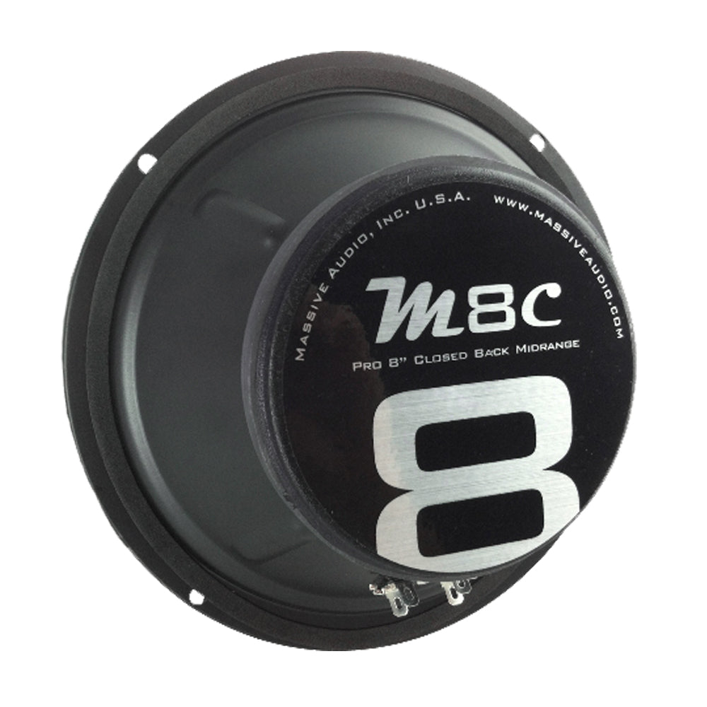"M8C - 8"" 80 Watt 8 Ohm Mid-Range Closed Back Speaker"