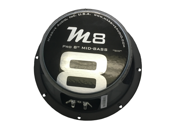 "M8 - 8"" 150 Watt 8 Ohm Mid-Range Speaker (Higher SQ Frequencies)"
