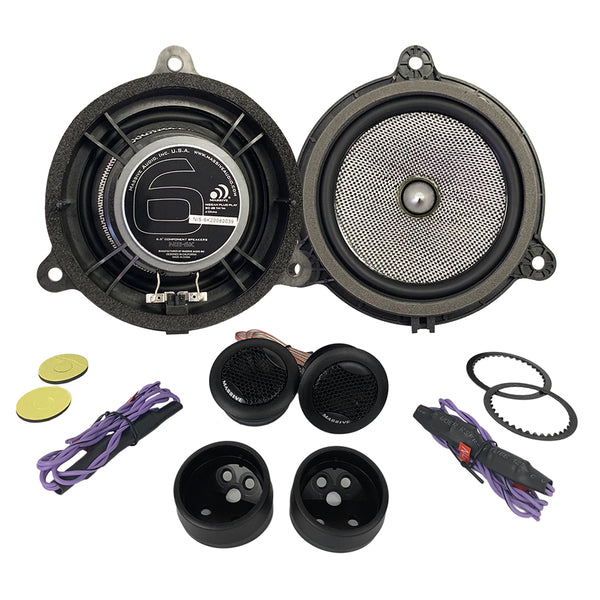 "NIS6K - 6.5"" Nissan OEM Drop-In, 80 Watts RMS Component Kit Speakers"