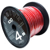 P4-100R - 4 AWG 100 Foot Red 100% Copper Oxygen Free Silver Tinned Twisted Spool Wire