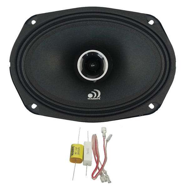 "P69X - 6""x 9"" 2-Way 140 Watts RMS Coaxial Pro Audio Speakers"