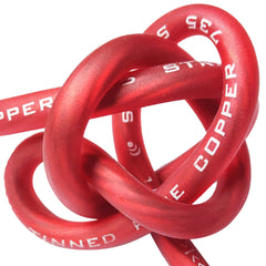 P8-200R - 8 AWG 100 Foot Red 100% Copper Oxygen Free Silver Tinned Twisted Spool Wire