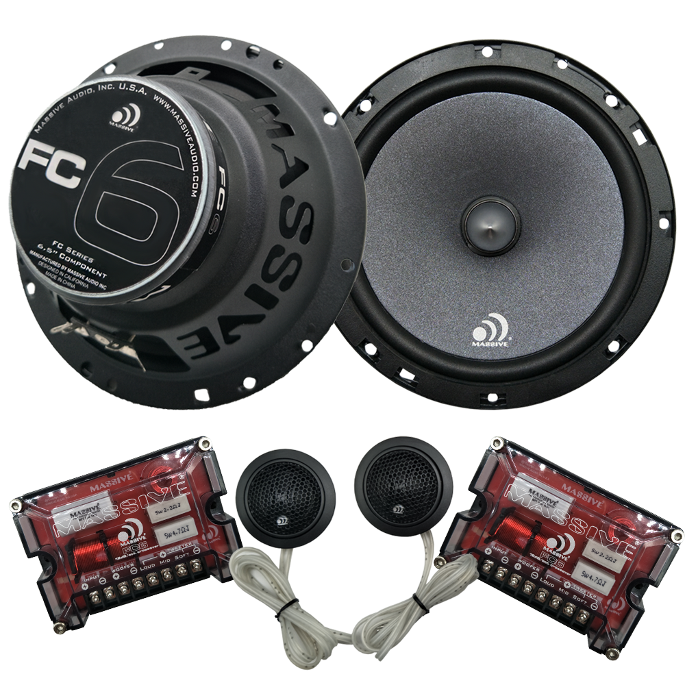 "FC6 - 6.5"" 150 Watts RMS Component Kit Speakers"