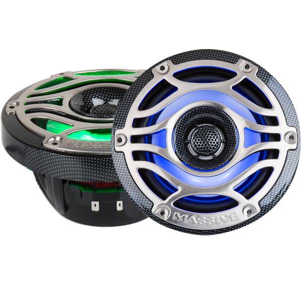 "T8S - 8"" 200 Watts Marine Coaxial LED Speakers"