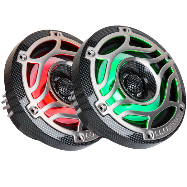 "T65S - 6.5"" 160 Watts Marine Coaxial LED Speakers"