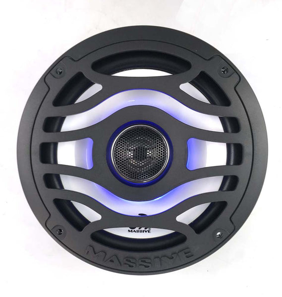 "T65XE - 6.5"" 80 Watts Marine Coaxial LED Speakers"