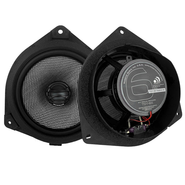 Massive Audio TOY6X - 6.5 Inch, Toyota Drop-in OEM Speaker Upgrade Replacement, 80 Watts RMS - 160 Watts MAX, Coaxial Speakers.