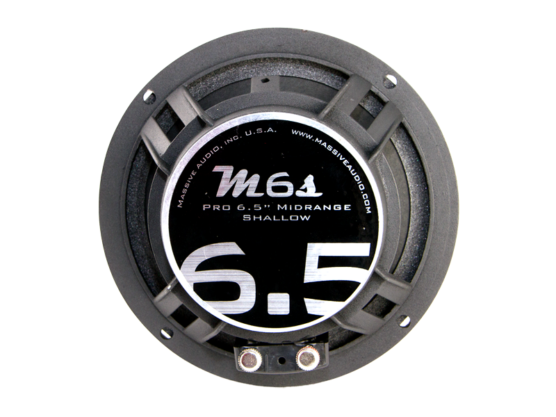 "M6S - 6.5"" 130 Watt 4 Ohm Mid-Range Shallow Mount Speaker"