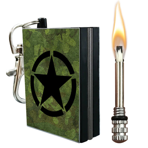 army camo permanent match fire starter