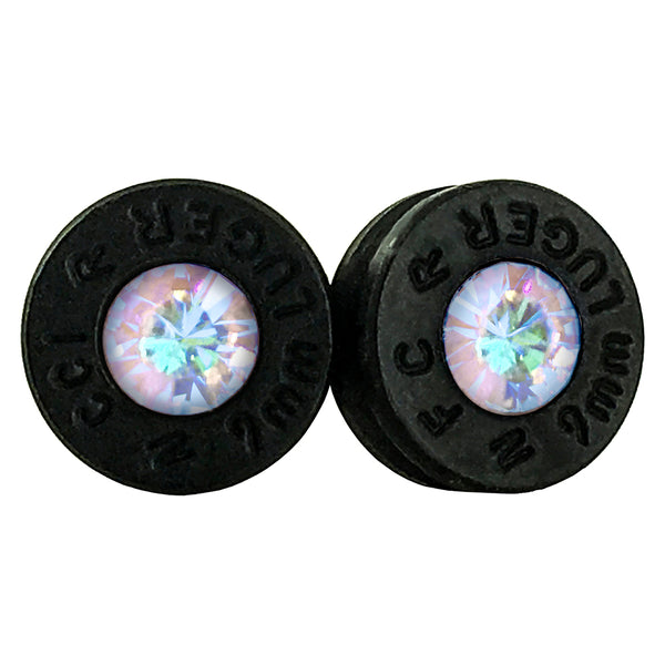 black opal bullet earrings