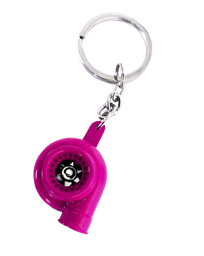 Pink Turbo Keychain