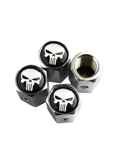 Punisher Skull Locking Valve Stem Caps
