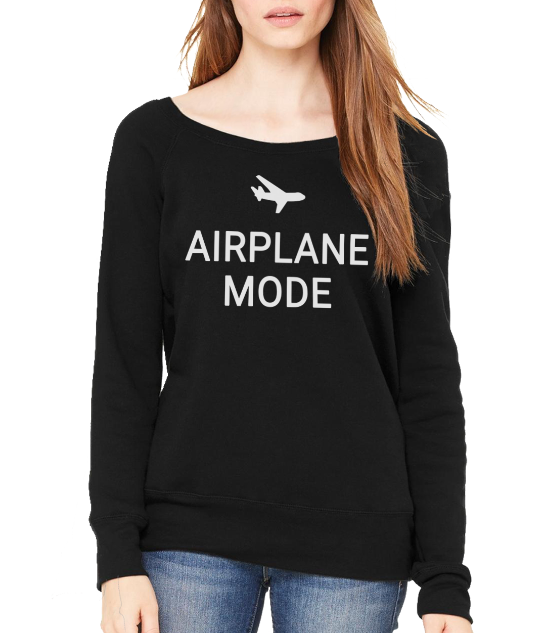 airplane mode wide neck sweater model
