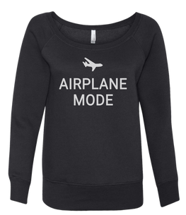 airplane mode wide neck sweatshirt