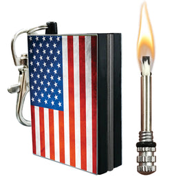 american flag permanent match fire starter