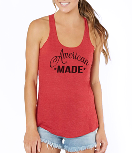 american made red tank top