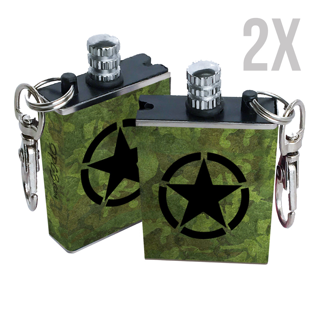 army camo permanent match fire starter 2 pack