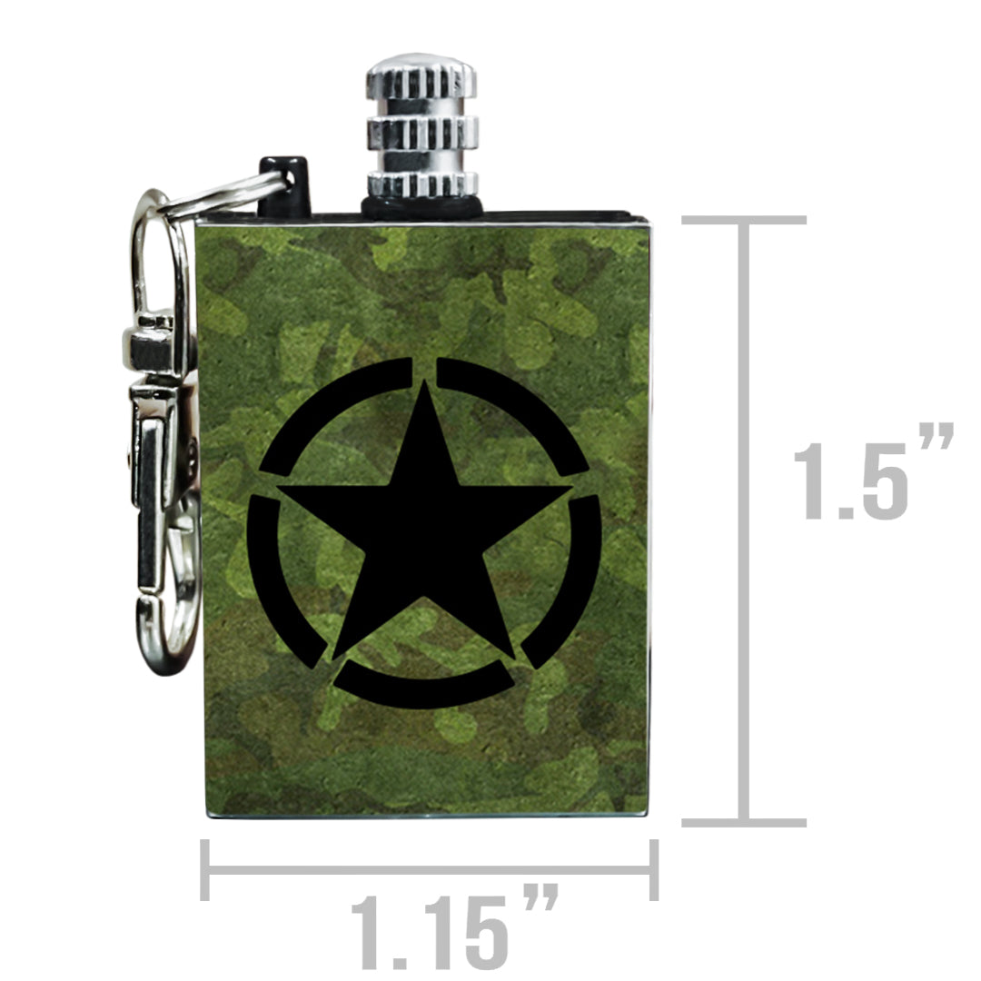 military permanent match fire starter sizing