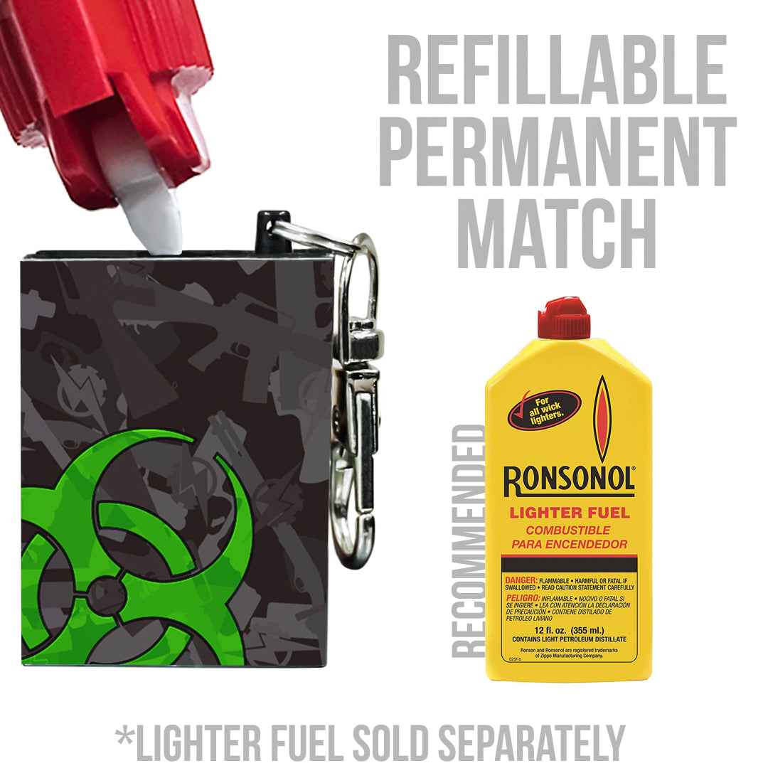 refillable fire starter permanent match