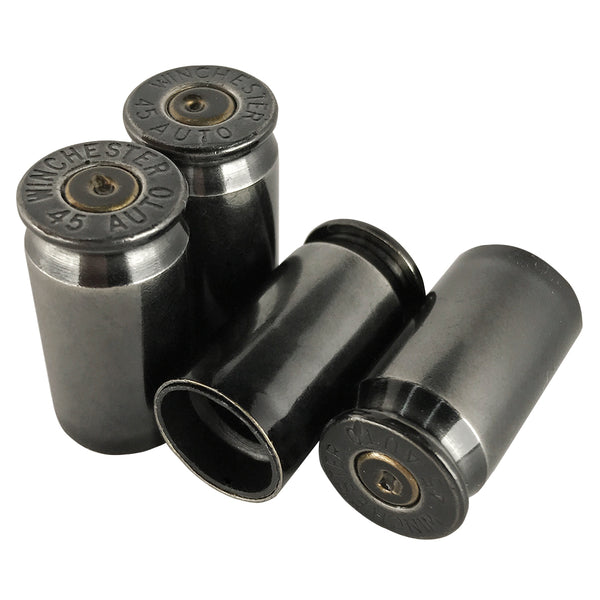 black chrome bullet valve stem caps