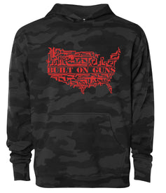 built on guns black camo hoodie